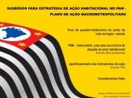 Subsídios para estratégia de ação habitacional do PAM - Emplasa