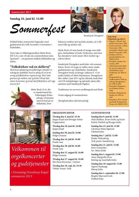 Kirkebladet juni 2013 - Dybbøl Kirke