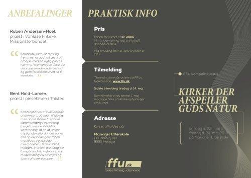 PRAKTISK INFO ANBEFALINGER - Apostolsk Kirke i Danmark