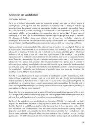 Aristoteles om uendelighed - Uvmat.dk
