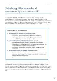 Vejledning til bedømmelse af eksamensopgaver i matematik - Uvmat