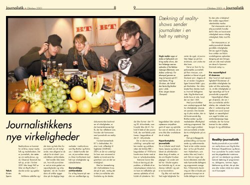 Reality – mediernes nye virkelighed Reality - Flemming Sørensen