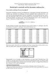 Deskriptiv statistik ud fra berømte måleserier - Uvmat.dk