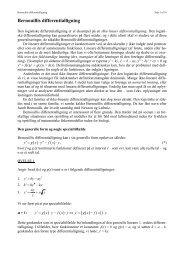 Bernouillis differentialligning - Uvmat.dk
