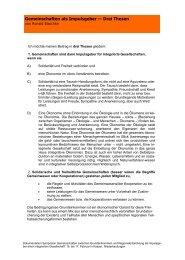 Gemeinschaften als Impulsgeber — Drei Thesen - Integrierte ...