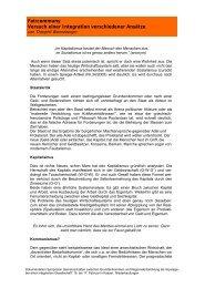Faircommuny Versuch einer Integration verschiedener Ansätze