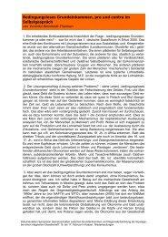 Bedingungsloses Grundeinkommen, pro und contra im ...