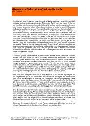 Ökonomische Sicherheit eröffnet neu Horizonte - Integrierte ...