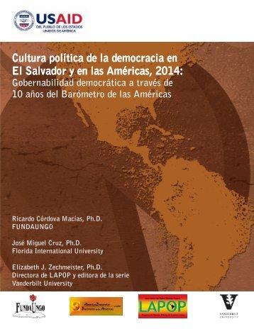 Cultura política de la democracia 2014