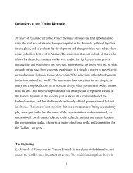 Curator text,(pdf) - Reykjavik Art Museum