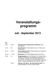Veranstaltungs- programm Juli - Tourismus Walenstadt