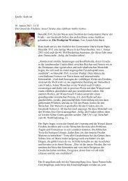 Jesus Christus, das sichtbare Antlitz Gottes Benedikt XVI. bei