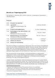 Bericht zur Trägertagung 2010 - VOJA