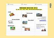 WEISSE WOCHE 2012 - VOJA