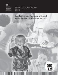 LEO NICKERSON ELEMENTARY SCHOOL EDUCATION PLAN 2006