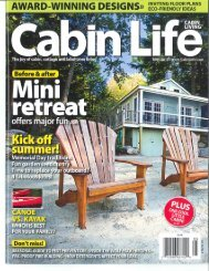 Cabin Life - May 2012 - Wenger