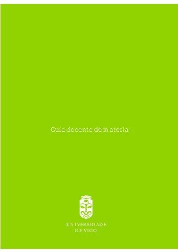 Guía docente de materia - Universidade de Vigo