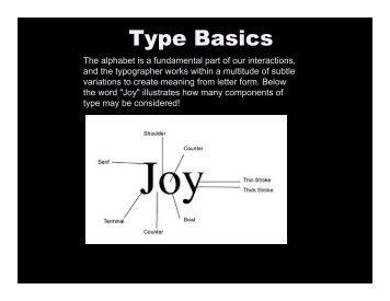 Typography Basics - Carter Hodgkin