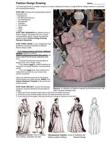 Fashion Design Drawing (.PDF)
