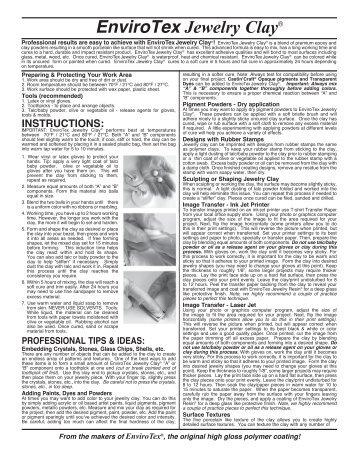 Envirotex Lite Professional Tip Sheet Environmental Technology Inc