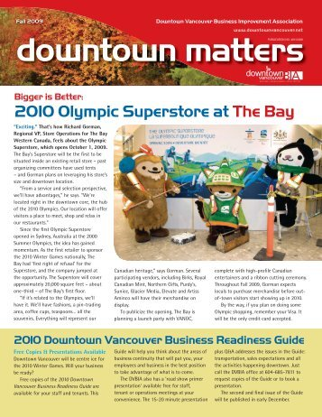 Fall 2009 Downtown Vancouver Business Improvement Association