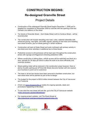 Granville Street Re-design - Downtown Vancouver Business ...