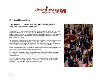 sponsoring a DVBIA event - Downtown Vancouver Business ...