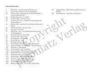 Inhaltsverzeichnis 7 Silke Wiest – Das Geheimnis ... - piepmatz Verlag