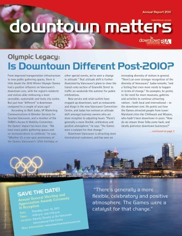 Is Downtown Different Post-2010? - Downtown Vancouver Business ...