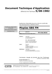 Document Technique d'Application Moplas SBS FM - Texsa