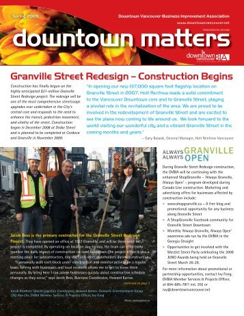 Granville Street Redesign - Downtown Vancouver Business ...