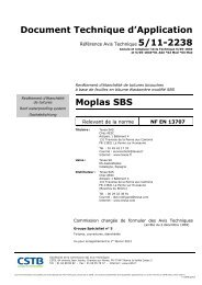 Document Technique d'Application Moplas SBS - Texsa