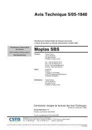 Avis Technique 5/05-1840 Moplas SBS - CSTB