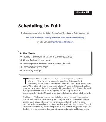 Scheduling HOW.pdf - Heart of Wisdom