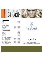 Price List St. Barth - Winklerhotels