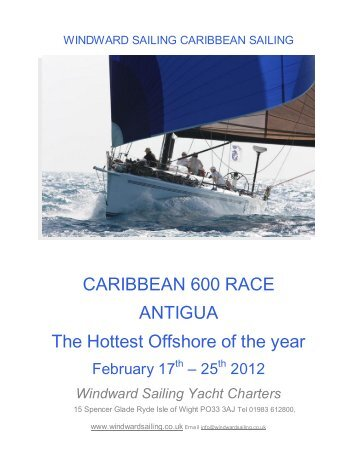 CARIBBEAN 600 RACE ANTIGUA The Hottest ... - Windward Sailing