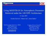 Using MODTRAN for Atmospheric Parameter Retrieval ... - Techexpo