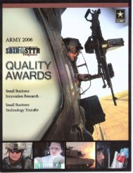 US Army SBIR Quality award - TechExpo