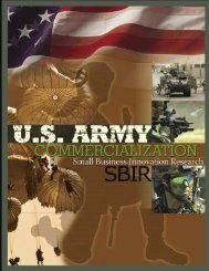 US Army SBIR Commercialization brochure - TechExpo
