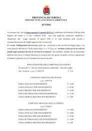 avviso modifiche legge per la raccolta dei funghi - Provincia di Verona