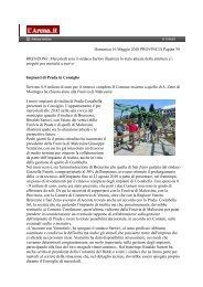 Domenica 16 Maggio 2010 PROVINCIA Pagina 34 BRENZONE ...