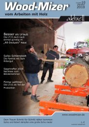 vom Arbeiten mit Holz - Wood-Mizer Sägewerke Vertriebs GmbH