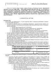 POR FESR Campania 2007-2013 OB. OP. 1.12. Procedura aperta ...