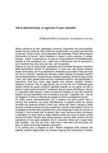 Vera democrazia: a ognuno il suo nanetto - ArchigraficA