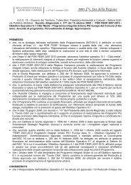 POR FESR 2007-2013 - Obiettivo Operativo 6.1 Citta' Medie