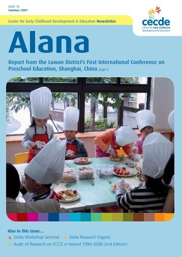 Issue 18 - Summer 2007 - Centre for Early Childhood Development ...