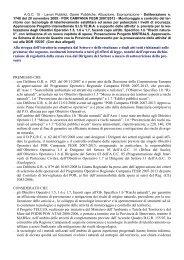POR CAMPANIA FESR 2007/2013 - Programmazione Unitaria ...