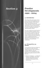 Practice Developments 1990-2004 - Centre for Early Childhood ...