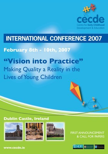 Vision into Practice - Centre for Early Childhood Development ...
