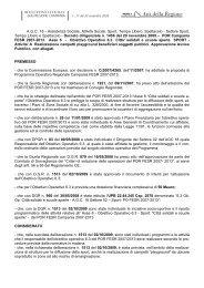 POR Campania FESR 2007-2013. Asse 6 - Obiettivo Operativo 6.3 ...